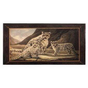 настольная игра Нарды с леопардами, средние (Смоленские, дерево, 50х25х4 см.)