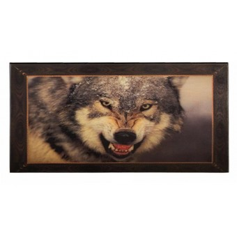 настольная игра Нарды с волком, средние (Смоленские, дерево, 50х25х4 см.)