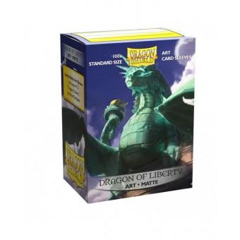 Протекторы Dragon Shield (66 х 91 мм., 100 шт.): матовые Dragon of Liberty