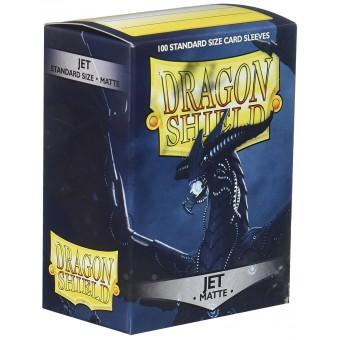 Протекторы Dragon Shield (66 х 91 мм., 100 шт.): черные матовые с вкраплением (JET)