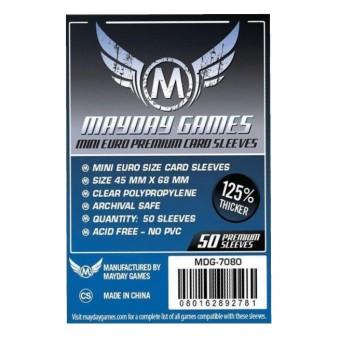 Протекторы MayDay: Прозрачные (Premium Mini Euro Size, 45 х 68 мм., 50 шт.)