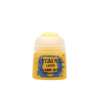 Баночка с краской Layer: Flash Gitz Yellow / Желтый Хвастун (12 мл.)