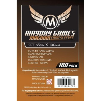 "Протекторы ""MayDay"": Прозрачные (Magnum Sleeve, 65 х 100., 100 шт.)"