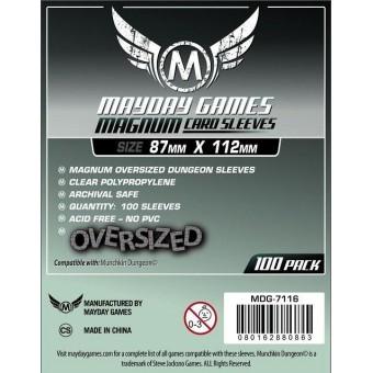 Протекторы MayDay: Прозрачные (Magnum Sleeve, 87 х 112 мм., 100 шт.)