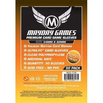"Протекторы ""MayDay"": Прозрачные (Premium Sleeve, 54 х 80., 50 шт.)"