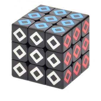 Головоломка Кубик 3x3 MoYu Black Crystal Cube Rhombus