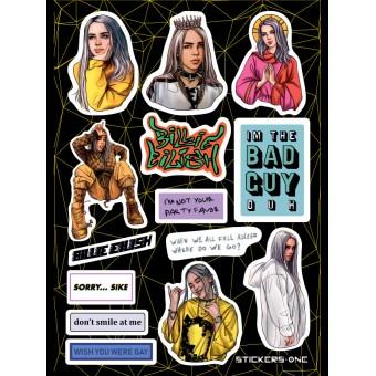 стикеры Stickers.one: Billie Eilish /  Билли Айлиш (лист А5)