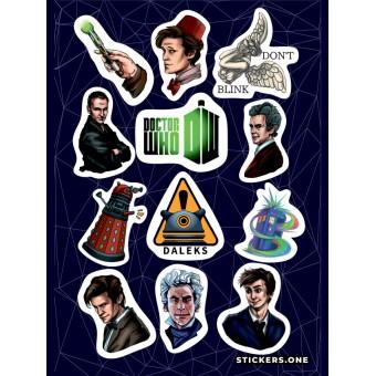 стикеры Stickers.one: Doctor Who / Доктор Кто (лист А5)