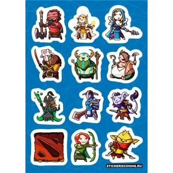 стикеры Stickers.one: DOTA 2 / Дота 2 (лист А5)