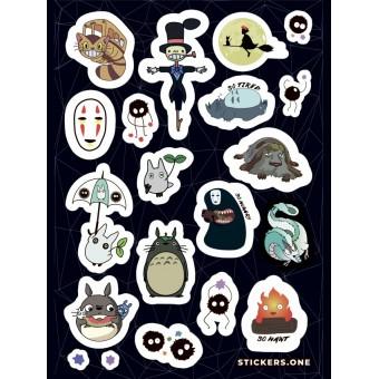 стикеры Stickers.one: Хаяо Миядзаки (вариант 1, лист А5)