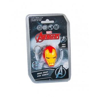 брелок-фонарик Marvel Avengers Iron Man / Железный Человек (лицензия)