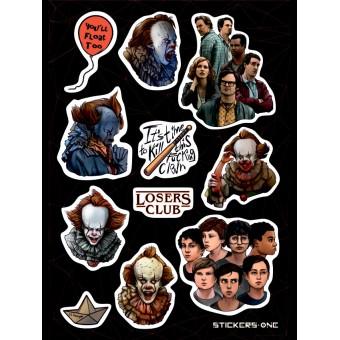 стикеры Stickers.one: Оно / It (лист А5)