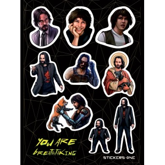 стикеры Stickers.one: Киану Ривз / Keanu Reeves (лист А5)