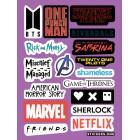 стикеры Stickers.one: Las Logos / Логотипы (лист А5)