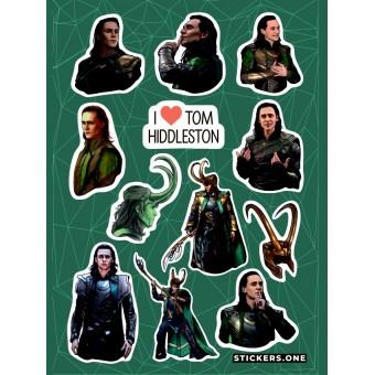 стикеры Stickers.one: Локи / Loki (лист А5)
