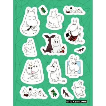 стикеры Stickers.one: Мумий Тролль / Mumintrollet (лист А5)