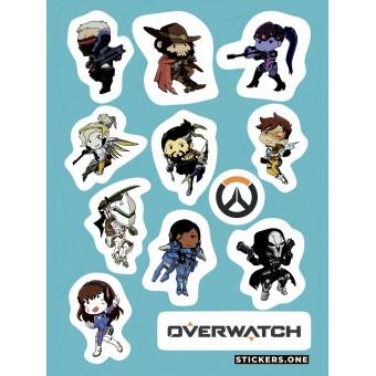 стикеры Stickers.one: Овервотч / Overwhatch (лист А5)