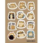 стикеры Stickers.one: Хомяк Сеня (лист А5)