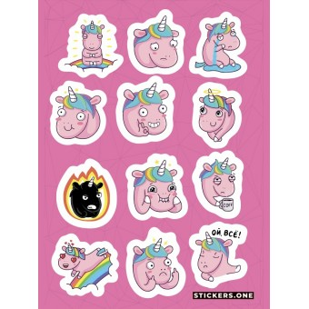 стикеры Stickers.one: Спаркс (лист А5)