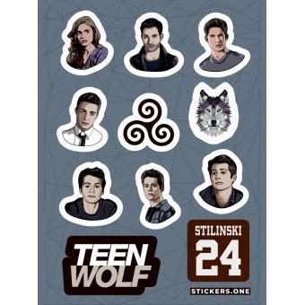 стикеры Stickers.one: Teen Wolf / Волчонок (лист А5)