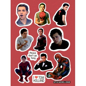 стикеры Stickers.one: Том Холланд / Tom Holland (лист А5)