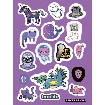 стикеры Stickers.one: Tumblr Space (лист А5)