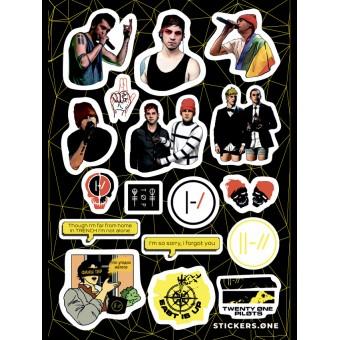 стикеры Stickers.one: Twenty One Pilots (лист А5)