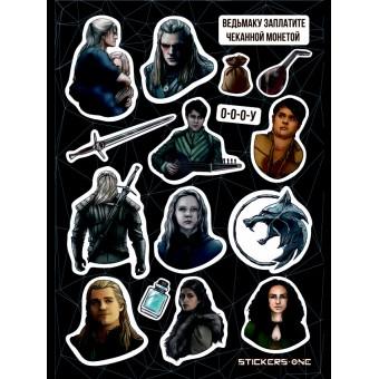 стикеры Stickers.one: The Witcher / Ведьмак (лист А5)