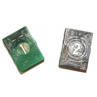 Набор кубиков PolyHero Dice D2 Greenflame & Burnished Bronze