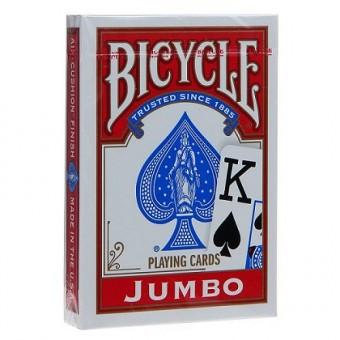 карты для покера Bicycle Rider Back (крупный индекс, красные)