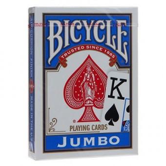 карты для покера Bicycle Rider Back (крупный индекс, синие)
