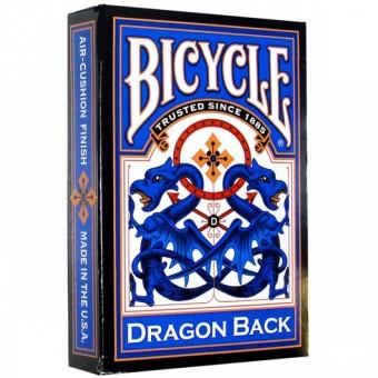 карты для покера Bicycle Dragon Back (синяя) - USPCC
