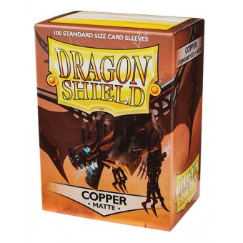 Протекторы Dragon Shield (66 х 91 мм., 100 шт.): Copper / Медные матовые
