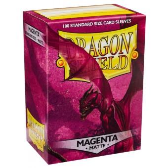 Протекторы Dragon Shield (66 х 91 мм., 100 шт.): magenta / малиновые матовые