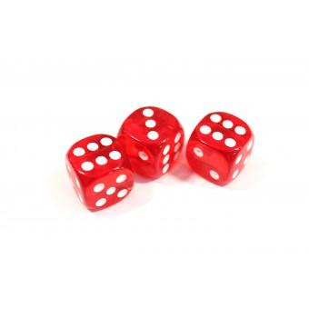 кубик d6 красный