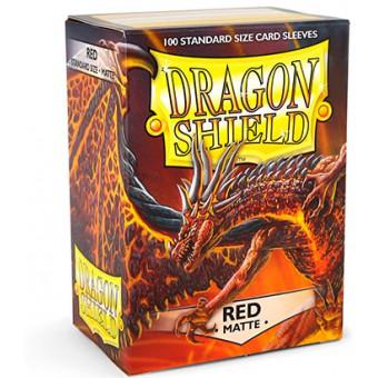 Протекторы Dragon Shield (66 х 91 мм., 100 шт.): Red / Красные матовые