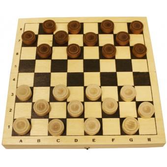 настольная игра Шашки Кировские (Россия, дерево, 29х29х2,5 см)