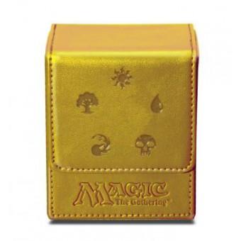 Коробочка Ultra-Pro Кожаная (на 100 карт в протекторах):  золотая