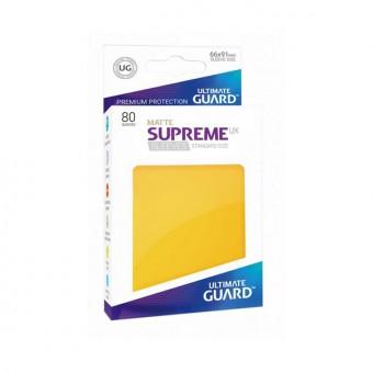 Протекторы Ultimate Guard: UX Желтый (матовые, 66 х 91 мм., 80 шт.)