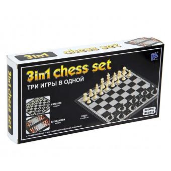настольная игра Шахматы, Шашки, Нарды Магнитные (маленькие, 27х14х4 см.)