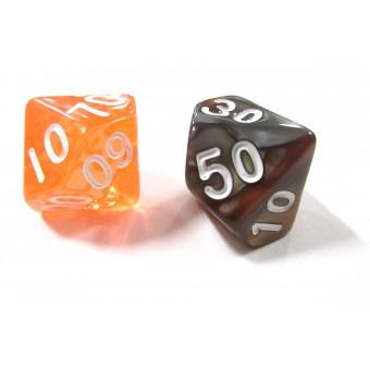 Кубик D% (D100), в ассортименте
