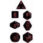 Набор из 7 кубиков для D&D: Чёрно-красный