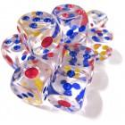 Кубик D6 Прозрачный для покера и нард (16 мм.)