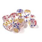 Кубик D6 Прозрачный для покера и нард (12 мм.)