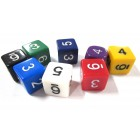 Кубик D6 Опак с цифрами, в ассортименте