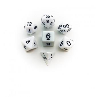 Набор из 7 кубиков для D&D: Белый