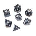 Набор из 7 кубиков для D&D: Мраморный-Черный