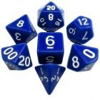 Набор из 7 кубиков для D&D: Синий