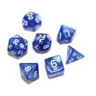 Набор из 7 кубиков для D&D: Мраморный-Синий