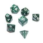 Набор из 7 кубиков для D&D: Мраморный-Изумрудный